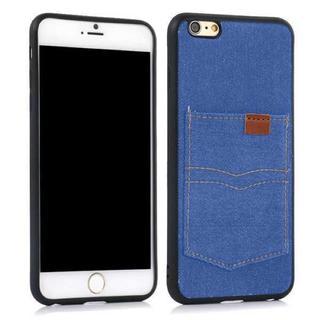 iPhone6 iPhone6s ブルー デニム 調 ソフトケース