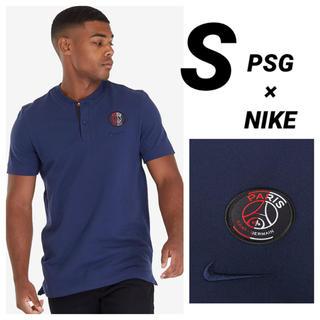 ナイキ(NIKE)のPSG NIKE ポロシャツ ネイビー Sサイズ(Tシャツ/カットソー(半袖/袖なし))