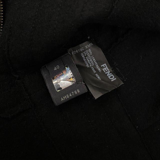 FENDI(フェンディ)のFENDI フェンディ ブラック ノースリーブ ワンピース レディースのワンピース(ひざ丈ワンピース)の商品写真