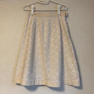 クレージュ(Courreges)のクレージュ  刺繍スカート 36(ひざ丈スカート)