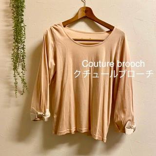 クチュールブローチ(Couture Brooch)のクチュールブローチ*36*カットソー  ロンT  Tシャツ リボン 8分袖 (カットソー(長袖/七分))