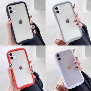 iFace風 透明 人気 iPhone11ケース 紫
