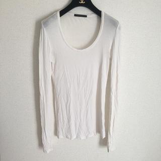 マウジー(moussy)の【moussy ロングTシャツ】ホワイト マウジー(Tシャツ(長袖/七分))
