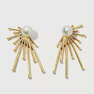 ナノユニバース(nano・universe)のSun pearl gold pierce No.283(ピアス)
