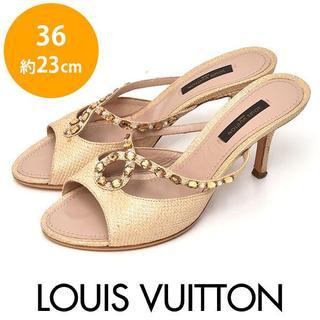 ルイヴィトン(LOUIS VUITTON)の美品❤️ルイヴィトン ビジュー ラインストーン サンダル 36(約23cm)(サンダル)