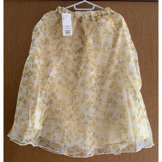 Techichi - テチチ オーガンジー 花柄スカート フレアスカート