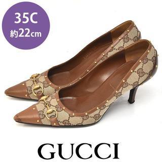 グッチ(Gucci)のグッチ ホースビット GGキャンバス パンプス 35C(約22cm)(ハイヒール/パンプス)