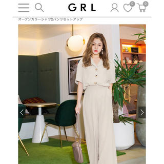 GRL - オープンカラーシャツセットアップ グレイル GRL