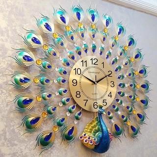 クジャク 孔雀 時計 インテリア 置物 エレガント