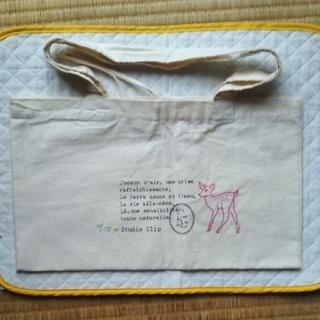 スタディオクリップ(STUDIO CLIP)の手提げバッグ バンビ刺繍(レッスンバッグ)