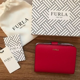Furla - 新品!フルラ FURLA 二つ折り財布 赤 レッド