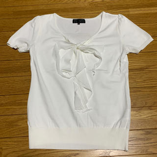 アンタイトル(UNTITLED)の♡UNTITLED  サマーニット  リボン付き 美品♡(ニット/セーター)