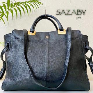 極美品 SAZABY サザビー 約3.5万 2way レザートートバッグ 鞄