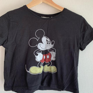 H&M - H&M ミッキーマウスTシャツ 黒色