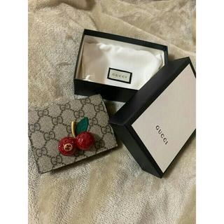 グッチ(Gucci)のGUCCI 二つ折り財布 チェリー(折り財布)