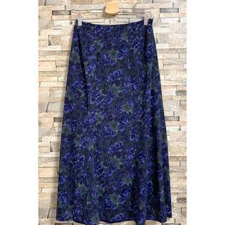 ロイスクレヨン(Lois CRAYON)のロイスクレヨン 花柄 ロングスカート パープル M(ロングスカート)