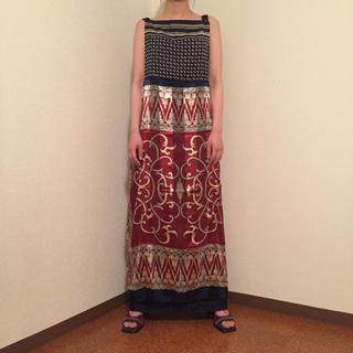 Ameri VINTAGE - new .. vintage  scarf apron dress