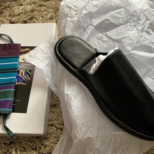 スコッチグレイン レザースリッパ メンズの靴/シューズ(その他)の商品写真