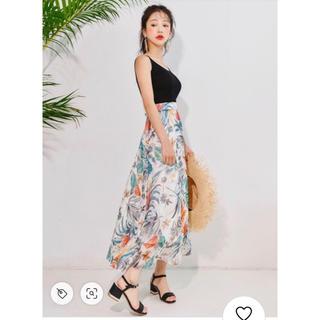 GRL - GRL フラワーフレアミモレ丈スカート 完売品