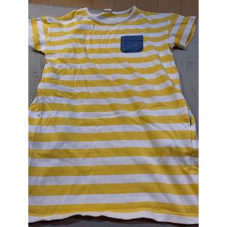 GU - GU ボーダー 女の子 半袖Tシャツ 130センチ