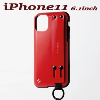 ELECOM - iPhone 11ケース TOUGH SLIM バンド付 カバー (レッド)