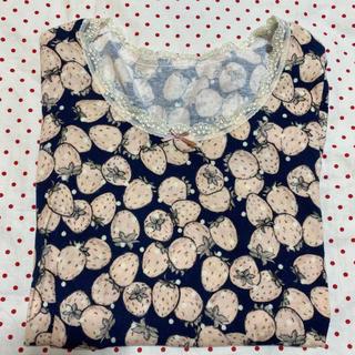 フランシュリッペ(franche lippee)のフランシュリッペ イチゴ柄長袖Tシャツ(Tシャツ(長袖/七分))