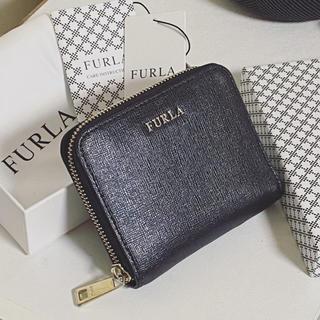 Furla - フルラ  二つ折り 財布 黒 ミニ財布 FURLA ミニウォレット