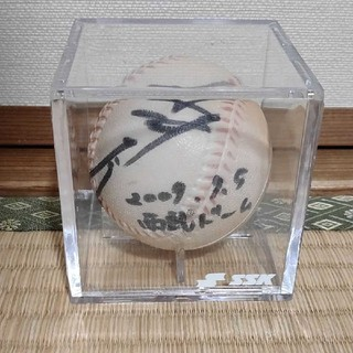 水樹奈々 西武ドーム 2009年9月5日 直筆サインボール ケース付き(ミュージシャン)