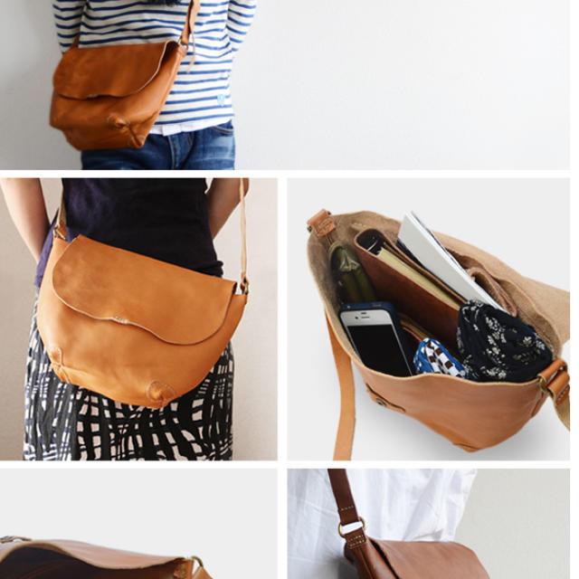 antiqua(アンティカ)の栃木レザーハンドメイド本革ショルダーバッグ レディースのバッグ(ショルダーバッグ)の商品写真