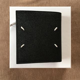 マルタンマルジェラ(Maison Martin Margiela)の20AW新品 メゾン マルジェラ 折り財布 グレインレザー 今期 新作 ブラック(折り財布)