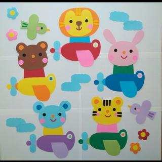 保育壁面☆壁面飾り☆飛行機(型紙/パターン)