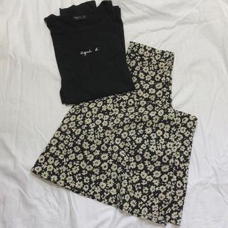 LOWRYS FARM - LOWRYSFAM ハナクルミボタンスカート