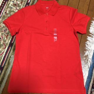 ユニクロ(UNIQLO)のUNIQLOポロシャツ Mサイズ RED(ポロシャツ)
