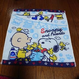 スヌーピー(SNOOPY)のスヌーピージャガプリハンドタオル ランドリーブルー(その他)