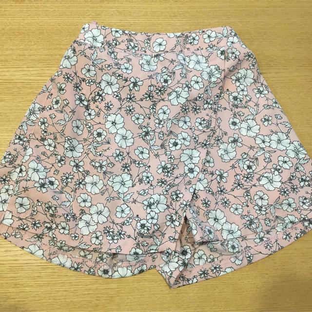 MPS(エムピーエス)の花柄 ラップキュロットスカート 110cm キッズ/ベビー/マタニティのキッズ服女の子用(90cm~)(スカート)の商品写真