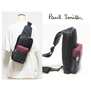 ポールスミス(Paul Smith)の新品【ポールスミス】ブロックゼブラ ボディバッグ ワンショルダーバッグ 黒(ボディーバッグ)