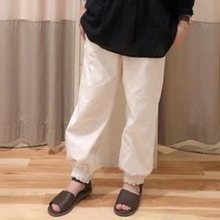 SM2 - 新品 綿麻裾ギャザーレースパンツ