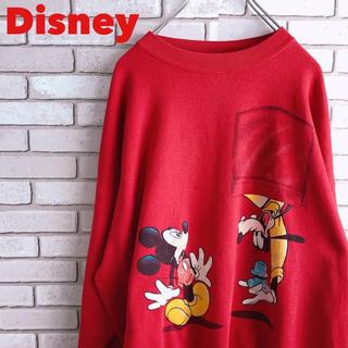 ディズニー(Disney)のディズニー スウェット XL USA ミッキー グーフィー 古着 90s(スウェット)