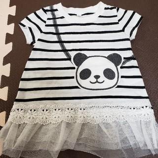 ニシマツヤ(西松屋)のチュニックワンピース サイズ80(Tシャツ)