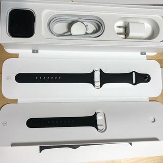 Apple Watch - 美品AppleCare+アップルウォッチ4 スペースブラックステンレス44mm