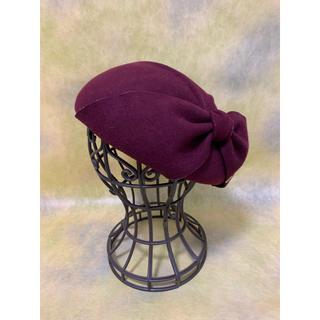 CA4LA - ca4la カシラ/ ベレー帽 トーク帽 日本製 ウール フェルト ボルドー