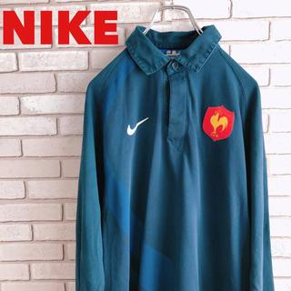 NIKE - NIKE ナイキ ポロシャツ 銀タグ 長袖 ワンポイントロゴ 古着 90s