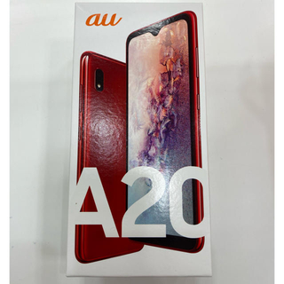 ギャラクシー(Galaxy)のSCV46 Galaxy A20 レッド 新品未使用 2台分(スマートフォン本体)
