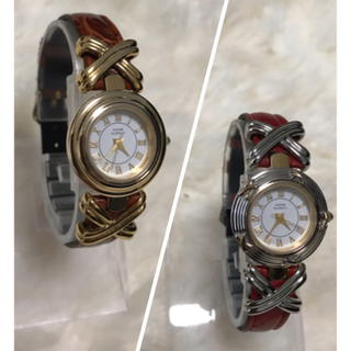 アンクライン(ANNE KLEIN)の商品:アンクライン 着せ替えレディース腕時計 電池交換済(腕時計)