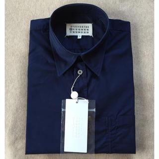 マルタンマルジェラ(Maison Martin Margiela)の濃紺40新品 メゾン マルジェラ コットン 長袖 シャツ ダークネイビー(シャツ)