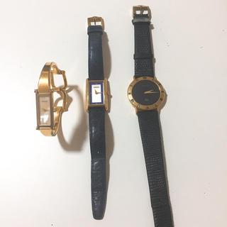 Gucci - 時計3本 GUCCI 腕時計 未動作 まとめ売り 激安 値引き不可