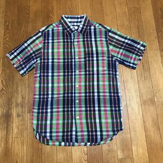 グッドイナフ(GOODENOUGH)のGOOD  ENOUGH 半袖チェックシャツ(シャツ)