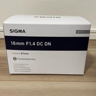 シグマ(SIGMA)のシグマ SIGMA 16mm F1.4 DC DN 新品(レンズ(単焦点))
