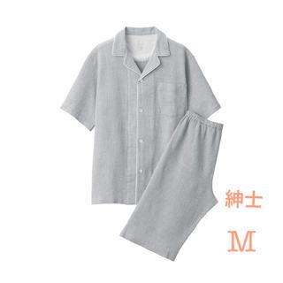 ムジルシリョウヒン(MUJI (無印良品))の無印良品   脇に縫い目のない ワッフル織り半袖パジャマ   紳士M・グレー (その他)