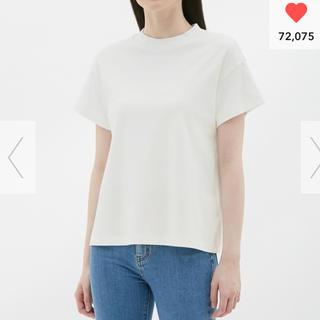 ジーユー(GU)のタグ付き新品未使用 GU スムースT(半袖) Tシャツ(Tシャツ(半袖/袖なし))